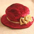 ネコ用帽子 ベロア ネコ雑貨