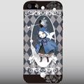 【ネコiPhone5ケース】青いマントの猫(ブラック用)送料無料!