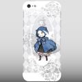 【ネコiPhone5ケース】青いマントの猫(ホワイト用)送料無料!