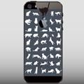 【ネコiPhone5ケース】猫いっぱい(ブラック用)送料無料!