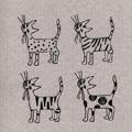 キッチンのネコ雑貨・猫グッズ スポンジワイプ ネコ ドイツ (デザイン&印刷 スウェーデン)